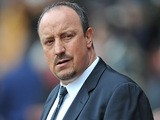 Chelsea interim manager Rafa Benitez prior to kick-off against Southampton on March 30, 2013
