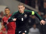 Northern Ireland's Steven Davis in action against Portugal on October 16, 2012