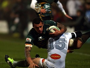 Northampton Saints' Courtney Lawes in action on January 11, 2013