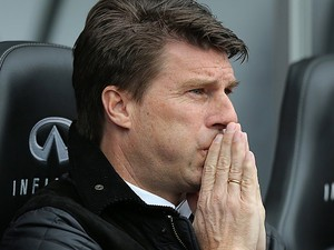 Swansea City boss Michael Laudrup during the match against Spurs on March 30, 2013