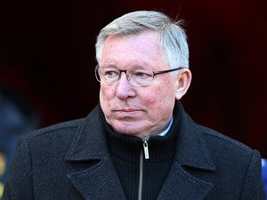 Manchester United boss Sir Alex Ferguson prior to kick-off against Sunderland on March 30, 2013