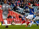 Ranger's David Templeton scores the opening goal against Queen's Park on April 7, 2013