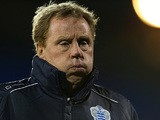 QPR boss Harry Redknapp before kick-off against Fulham on April 1, 2013