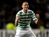 Celtic defender Kelvin Wilson celebrates a win over Barcelona on November 7, 2012