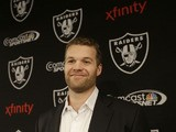 Oakland Raiders quarterback Matt Flynn speaks at a press conference on April 2, 2013