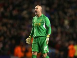 Liverpool goalkeeper Pepe Reina during his side's Europa League match against Zenit St. Petersburg on February 21, 2013