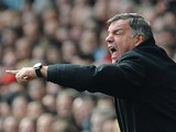 West Ham boss Sam Allardyce on the touchline during the match against Liverpool on April 7, 2013