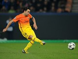 Barcelona's Xavi converts a penalty to score his team's second against Paris Saint-Germain on April 2, 2013