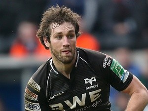 Ospreys' Andrew Bishop in action against Leicester Tigers on January 13, 2013