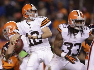 Cleveland Browns quarterback Colt McCoy during his side's match against the Denver Broncos on December 23, 2012