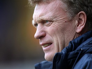 Everton boss David Moyes on the touchline during the match against Spurs on April 7, 2013