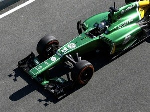 Caterham's Giedo Van Der Garde at F1 testing on February 6, 2013