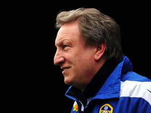 Leeds boss Neil Warnock before kick-off against Crystal Palace on March 9, 2013