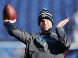 Jags QB Chad Henne warms up before a game with the Titans on December 30, 2012