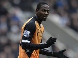 Fulham midfielder Eyong Enoh in action against Newcastle on April 7, 2013