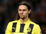 Dortmund's Neven Subotic in action against Man City on October 3, 2012