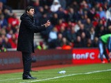 Southampton manager Mauricio Pochettino on the sideline during his side's match against West Ham on April 13, 2013