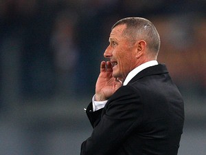 AS Roma boss Aurelio Andreazzoli on the touchline on February 16, 2013