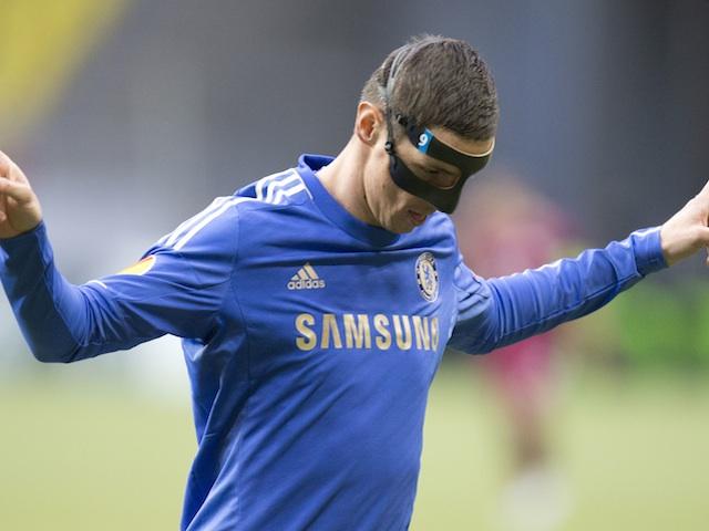 Chelsea striker Fernando Torres celebrates a goal against Rubin Kazan on April 11, 2013