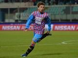 Catania forward Alejandro Gomez celebrates after scoring against Udinese on March 16, 2013