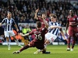 West Brom's Billy Jones scores an equaliser against Newcastle on April 20, 2013