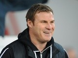 Barnsley boss David Flitcroft on the touchline during a game with Cardiff on April 9, 2013