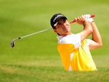 Chilean golfer Felipe Aguilar in action on May 24, 2012
