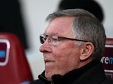 Manchester United boss Sir Alex Ferguson prior to kick-off against West Ham on April 17, 2013