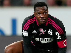 Marseille goalkeeper Steve Mandanda in action on April 14, 2013