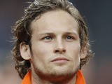 Netherlands player Daley Blind prior to their match against Estonia on March 22, 2013