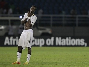 Ghana's John Boye reacts to defeat against Zambia on February 8, 2012