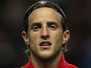 Switzerland's Reto Ziegler prior to the match against Wales on October 7, 2011