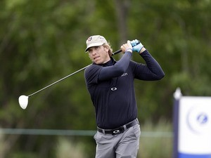 Ricky Barnes tees off during the PGA Zurich Classic golf tournament on April 25, 2013