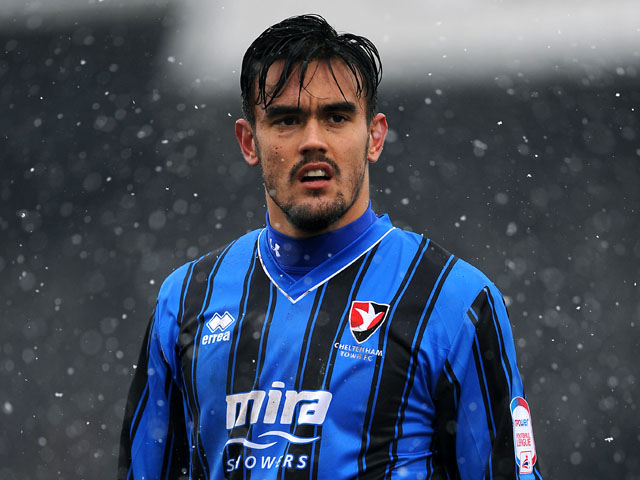 Cheltenham Town's Marlon pack on March 23, 2013