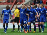 Leicester City's Matty James celebrates after scoring against Nottingham Forest on May 4, 2013