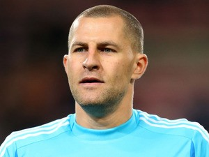 AIK goalkeeper Ivan Turina during the Europa League match against PSV Eindhoven on October 25, 2012
