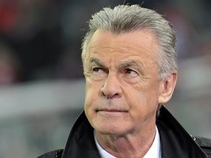 Coach Ottmar Hitzfeld photographed on November 2, 2011
