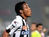 Udinese's Luis Muriel celebrates a goal against Palermo on May 8, 2013