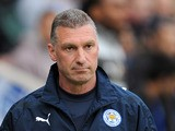 Leicester boss Nigel Pearson on the touchline during the match against Watford on May 9, 2013