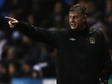 City caretaker boss Brian Kidd on the touchline at Reading on May 14, 2013