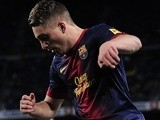 Barca defender Gerard Deulofeu in action against Mallorca on April 6, 2013