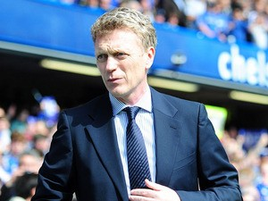 Everton manager David Moyes during the Premier League match with Chelsea on May 19, 2013