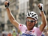 Italian Danilo Di Luca celebrates a win on June 3, 2007