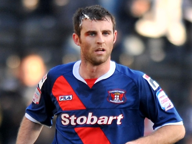 Carlisle's Danny Livesey in action against Notts County on March 2, 2013