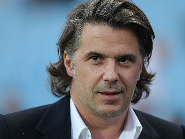 Olympique Marseille President Vincent Labrune on March 3, 3012