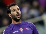 Fiorentina forward Mounir El Hamdaoui in action against Sampdoria on December 2, 2012