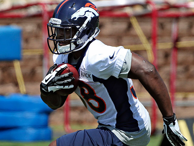 Denver Broncos' Montee Ball during a training session on May 10, 2013