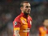 Galatasaray's Wesley Sneijder during the Champions League quarter final match against Real Madrid on April 3, 2013