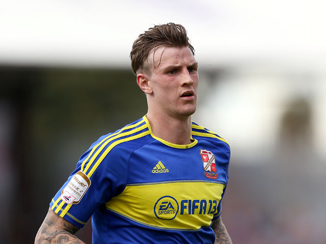 Swindon Town's Adam Flint during the match against Brentford on May 6, 2013
