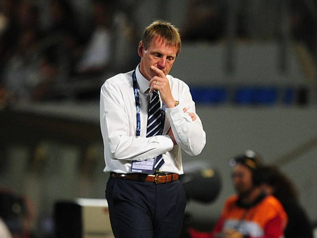 England coach Stuart Pearce during the U21 championship match against Italy on June 5, 2013